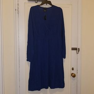 Lane Bryant Dresses - Blue Long Sleeve Dress
